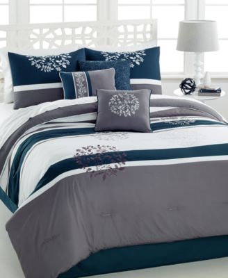 CLOSEOUT! Bentley 7-Pc. Queen Embroidered Comforter Set