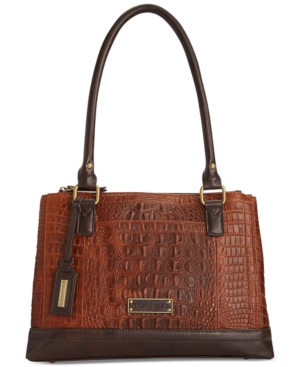 Tignanello Houston Street Leather Croco Shopper