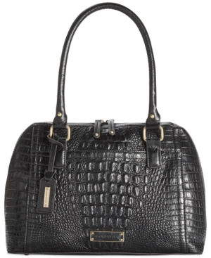 Tignanello Houston St. Leather Croco Accordion Satchel