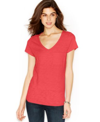Image of Maison Jules V-Neck Pocket T-Shirt