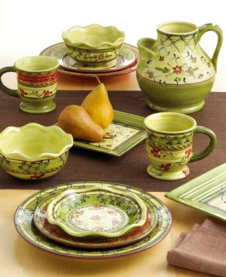 Beautiful Green Dinnerware, Black and Green Dinnerware for your Home!