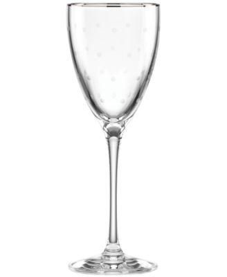 kate spade new york Larabee Dot Platinum Goblet