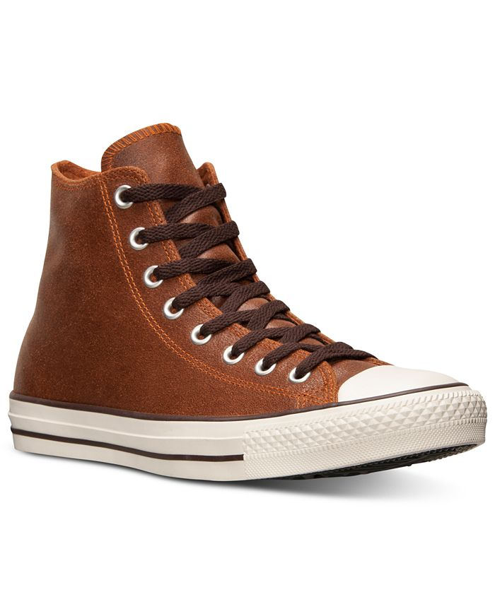 Converse - Men's All Star Vintage Leather Hi Casual Sneakers from Finish Line