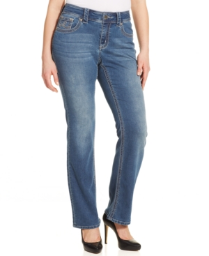 Seven7 Jeans Plus Size Bootcut Knit Jeans, Riddler Wash