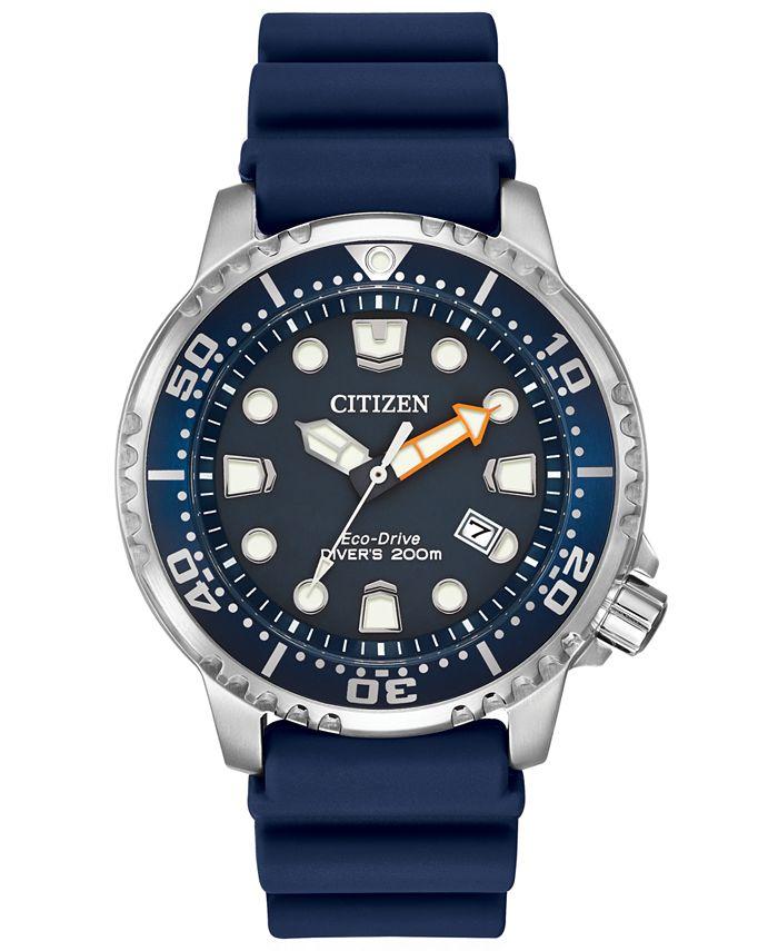 Citizen - Men's Eco-Drive Promaster Diver Blue Strap Watch 42mm BN0151-09L