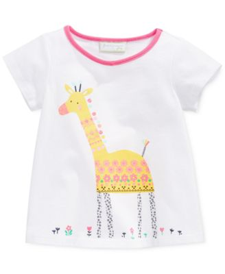 First Impressions Baby Girls' Giraffe Tee