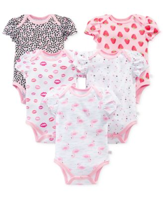 Rosie Pope Baby Girls' 5-Pack Bodysuits