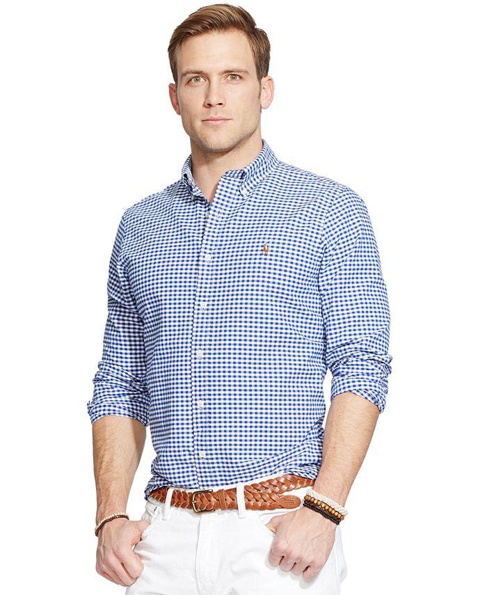 Polo Ralph Lauren Men's Classic Fit Long-Sleeve Oxford Shirt ...