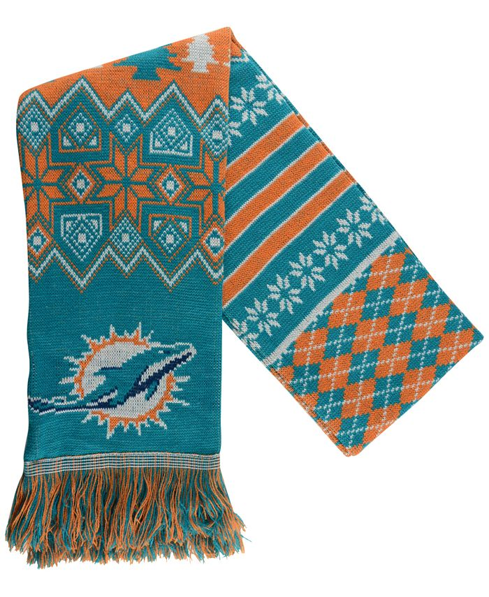 Forever Collectibles - Miami Dolphins Christmas Sweater Scarf