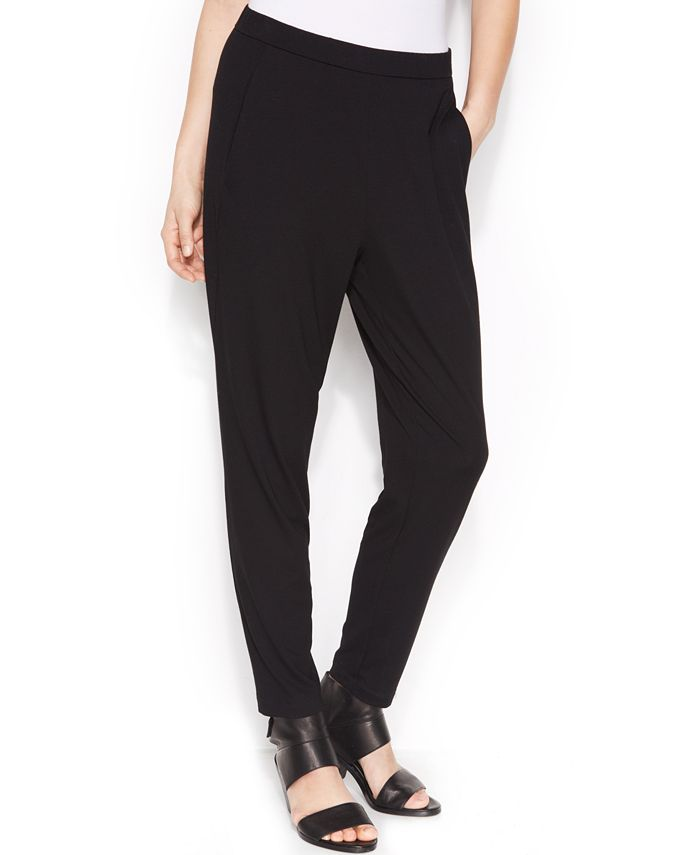 Eileen Fisher - Pull-On Tapered Soft Ankle Pants