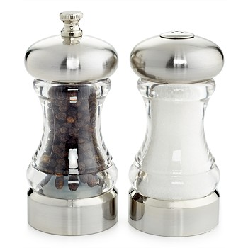 Martha Stewart Collection Acrylic 2-Piece Salt Shaker & Pepper Mill Set