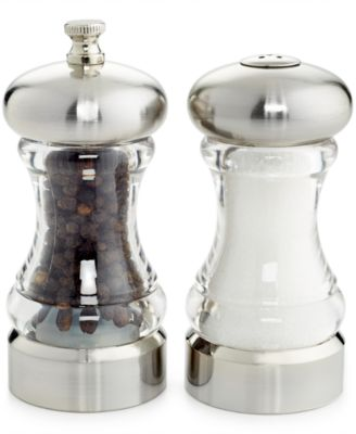 Martha Stewart Collection Acrylic 2-Pc. Salt & Pepper Mill Set