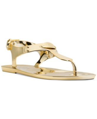 Image of MICHAEL Michael Kors Plate Jelly Thong Sandals