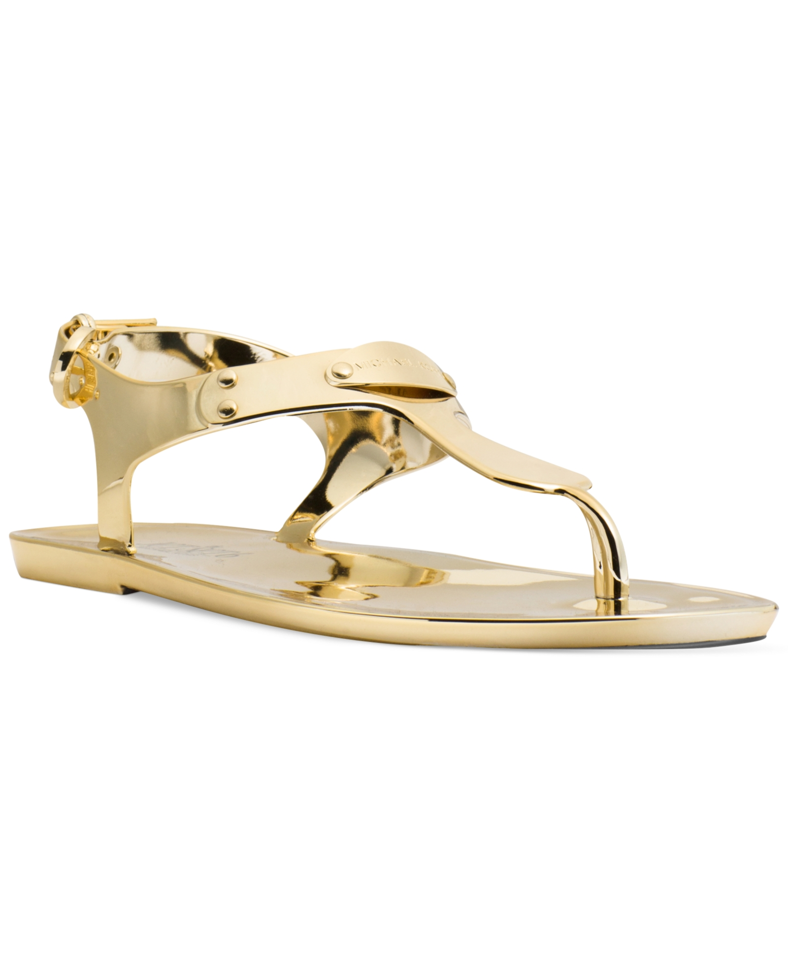 1abd3fc0c50286 Michael Michael Kors Plate Jelly Thong Sandals Women s Shoes ...