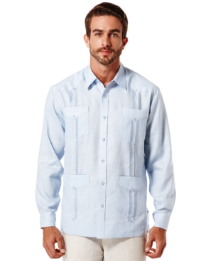Cubavera Linen 4-Pocket Guayabera Shirt $59.99 AT vintagedancer.com