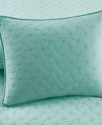Martha Stewart Collection Basket Stitch Standard Sham (Aqua)