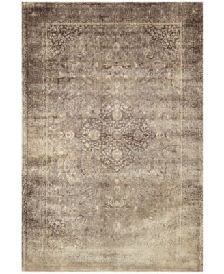 "Loloi Nyla NY-20 Sand/Dark Brown 7'6"" x 10'5"" Area Rug"