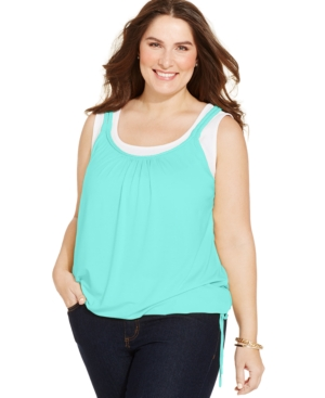 Style & Co. Plus Size Layered-Look Tank Top