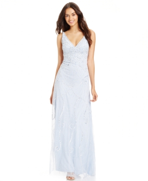 Adrianna Papell Embellished Open-Back Gown $119.99 AT vintagedancer.com