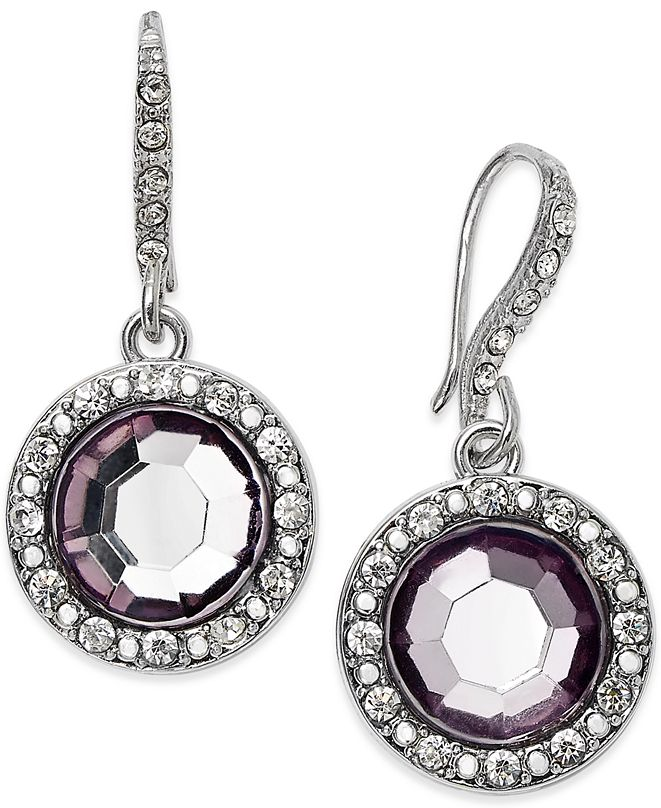 INC International Concepts I.N.C. Round Stone Drop Earrings, Created for Macy's