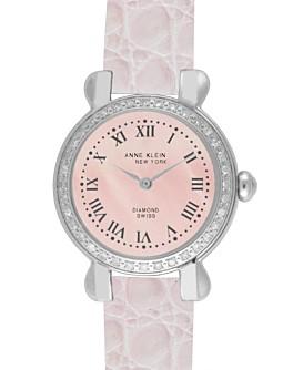 Macy*s - Jewelry & Watches - Anne Klein New York Women's Diamond Accent Bezel Watch