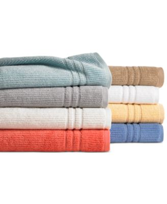 "CLOSEOUT! Martha Stewart Collection Quick Dry 13"" Square Washcloth, Only at Macy's"