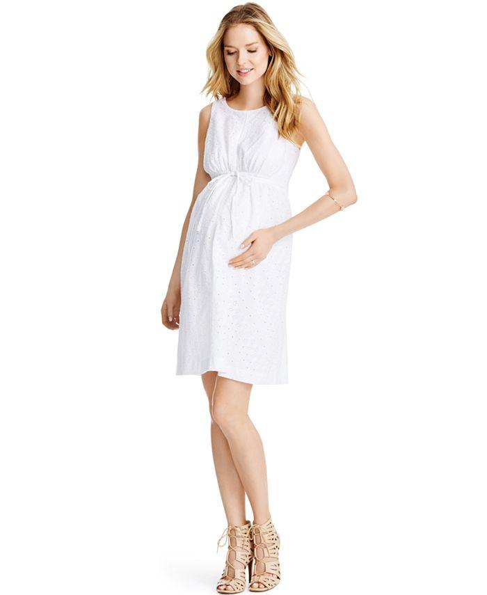 Jessica Simpson - Maternity Sleeveless Eyelet Dress