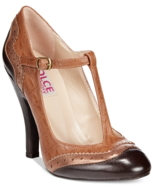 Dolce by Mojo Moxy Harper T-Strap Pumps Womens Shoes $39.99 AT vintagedancer.com