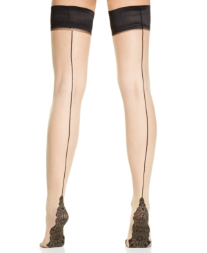 Pretty Polly Back Seam Detail Thigh High Tights $20.64 AT vintagedancer.com