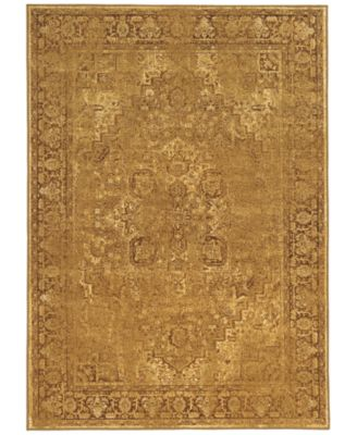 "Kenneth Mink Spectrum Mod Heriz Gold 7'10"" x 10'10"" Area Rug"