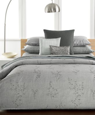 Calvin Klein Staggered Lines King Coverlet