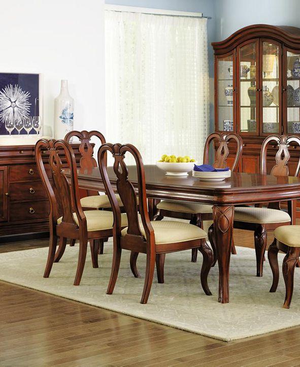 furniture closeout bordeaux 7pc dining room set