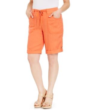INC International Concepts Plus Size Tab-Cuff Bermuda Shorts