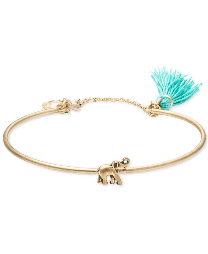 lonna & lilly - Gold-Tone Elephant Bangle Bracelet