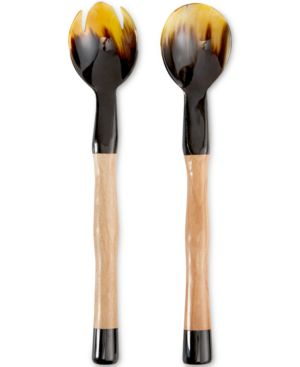 Heart of Haiti Horn Salad Servers with Wooden Handles Salad Greens Seeds, Salad Greens Seed, Salad Seeds, Salad Greens, Garden Seeds, Vegetable Seeds