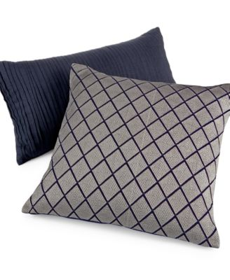 "Hotel Collection Linen Navy 14"" x 26"" Decorative Pillow"