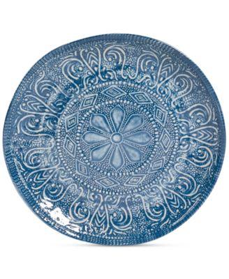 Maison Versailles Castleware Melamine Round Blue Salad Plate