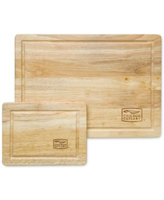 Chicago Cutlery 2-Pc. Wood Cutting Board Set