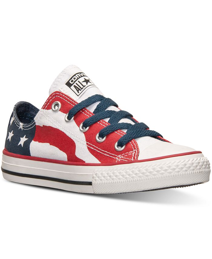 Converse - Boys' Chuck Taylor Ox Flag Print Casual Sneakers from Finish Line