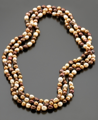 Fresh by Honora Multicolored Baroque Cultured Freshwater Pearl Strand, 80""