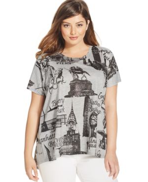Style & co. Plus Size New York Graphic Tee