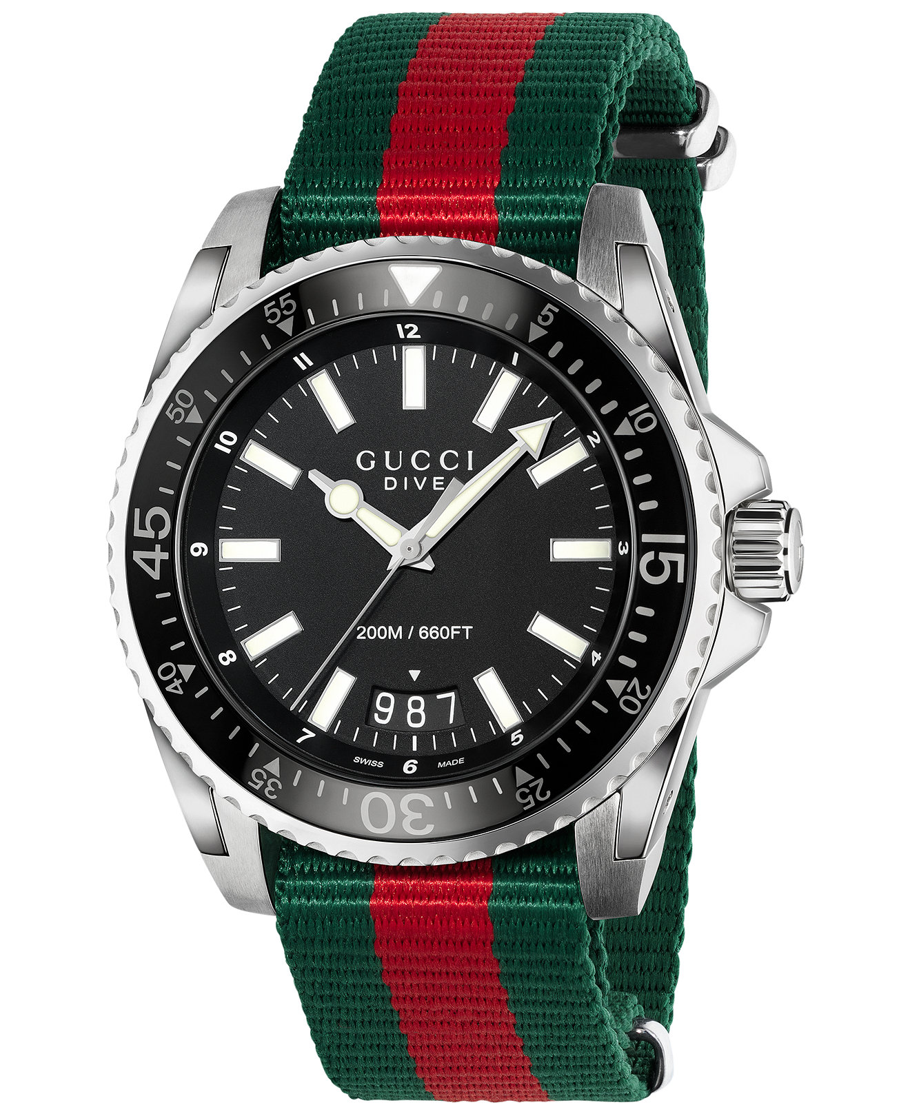 men s ya136206 dive green and red