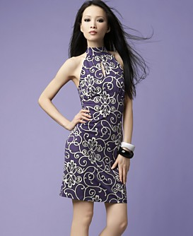 Macy*s -   Women's - 								INC International Concepts® Printed Keyhole Dress :  keyhole purple sleeveless print