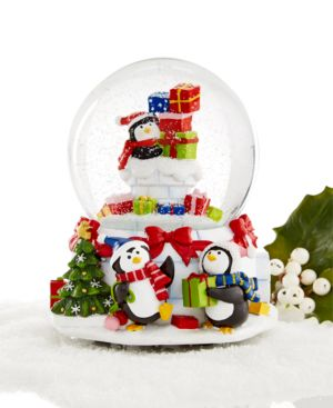 Holiday Lane Penguin Musical Snow Globe, Only at Macy's