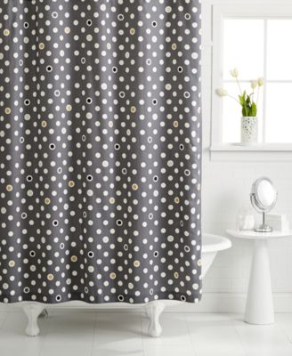 Whim by Martha Stewart Collection Pop Dot Shower Curtain