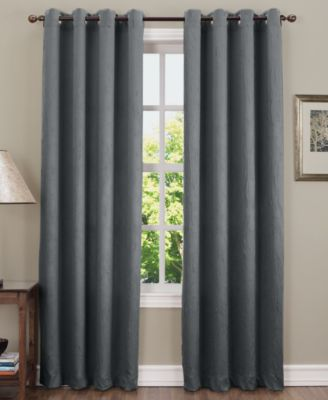 "Sun Zero Collins Crushed Solid Room Darkening Woven Curtain 50"" x 84"" Panel"