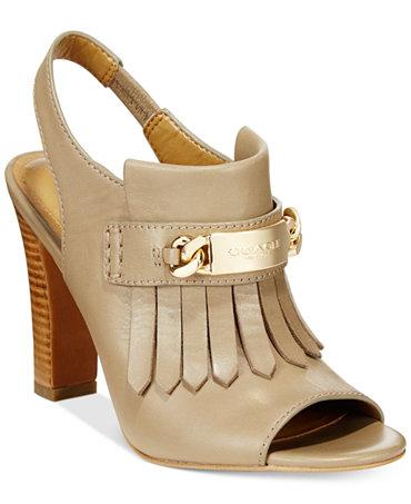 COACH Renita Kilty Slingback Mules - Sandals - Shoes - Macy's