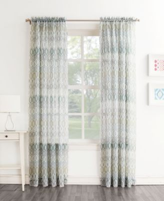 "Lichtenberg Montclair Printed Ikat Sheer Curtain 51"" x 84"" Panel"