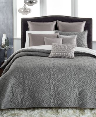 INC International Concepts Rizzoli Gunmetal Full/Queen Coverlet, Only at Macy's