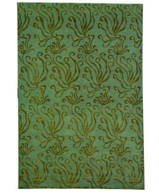 "Martha Stewart ""Seaflora"" Hand Knotted Sea Glass Area Rug - Green Modern Shop by Style - Rugs - Macy's from macys.com"